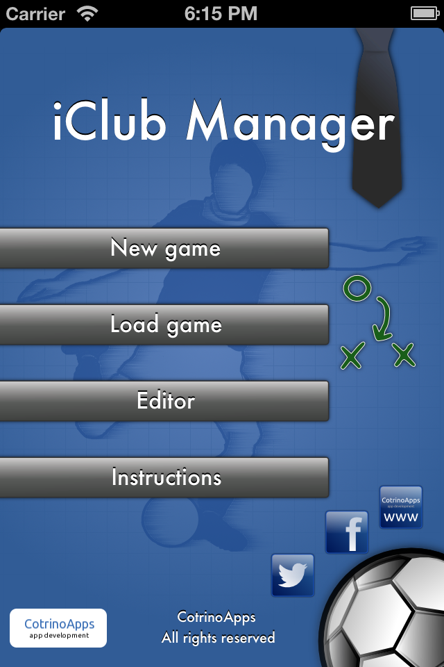 Screenshot iClub Manager