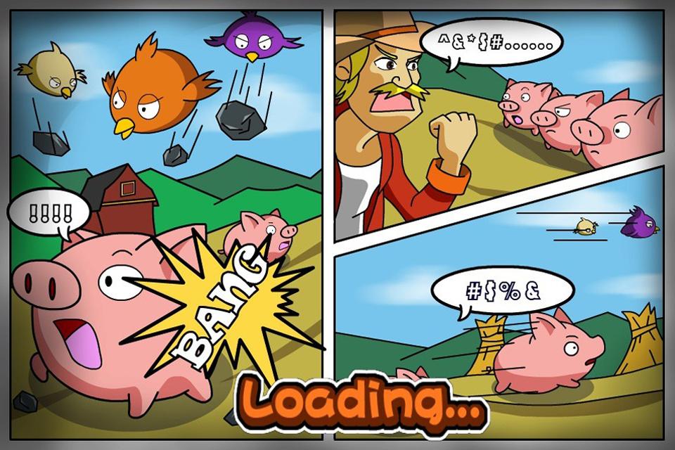 复仇的小猪,一款可爱的跑酷类游戏,带领你的小猪去干掉那些愤怒的小鸟